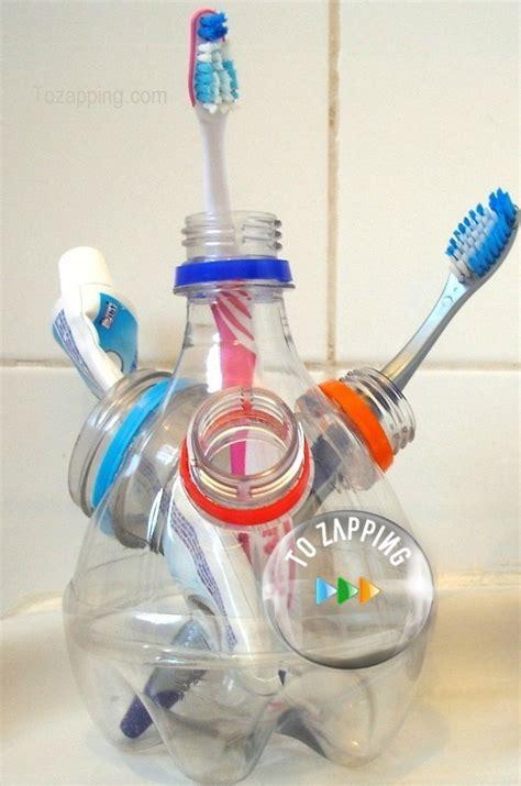 ideas para reciclar botellas de plstico ecocosas portacepillos de dientes hecho con botellas de pl 225 stico