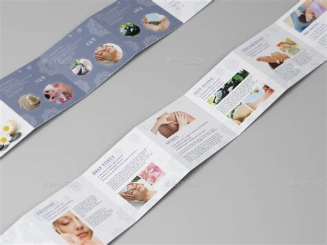 massage square mini brochure template by wutip2