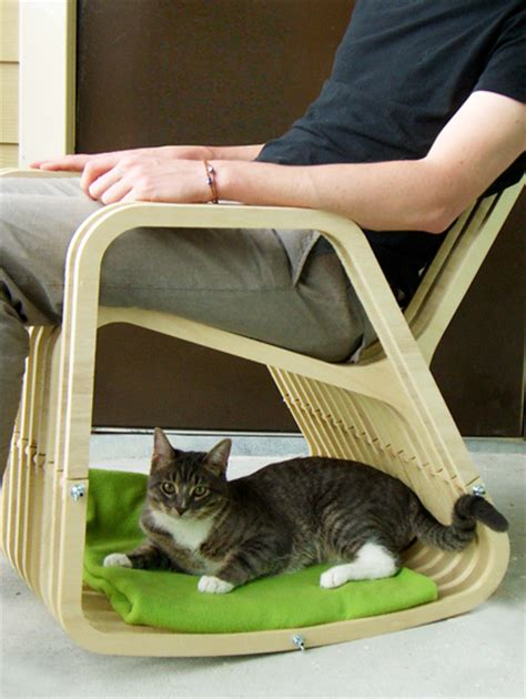 Cat Chair by Rocking Chair For Pet Owners