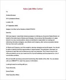 Sle Of Offer Letter For Employment by Offer Letter Sle 8 Exles In Word Pdf