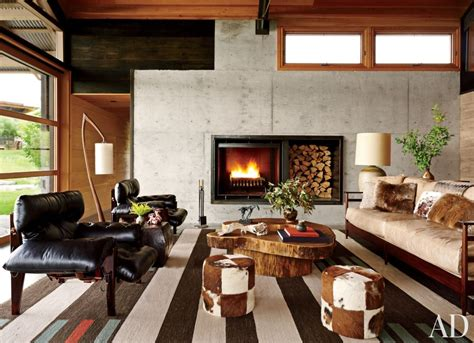 modern mountain homes via architectural digest contemporary living room by madeline stuart associates