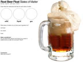 e is for explore root beer float science