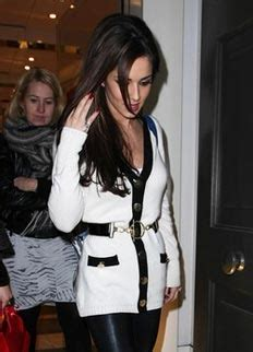 where does cheryl burton buy her clothes cheryl cole buy her long white belted cardigan online