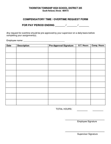 overtime forms template best photos of sle request for overtime sle