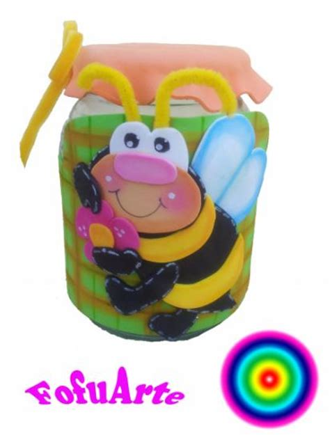 decorar frascos de vidrio con goma eva frascos adornados con goma eva imagui