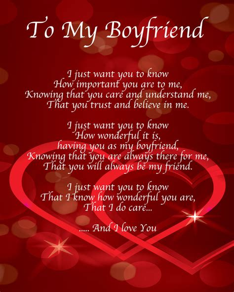how to your boyfriend on valentines to my boyfriend poem birthday valentines day gift present