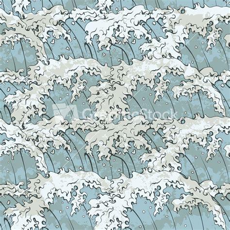 japanese wave pattern illustrator japanese waves pattern vector illustration