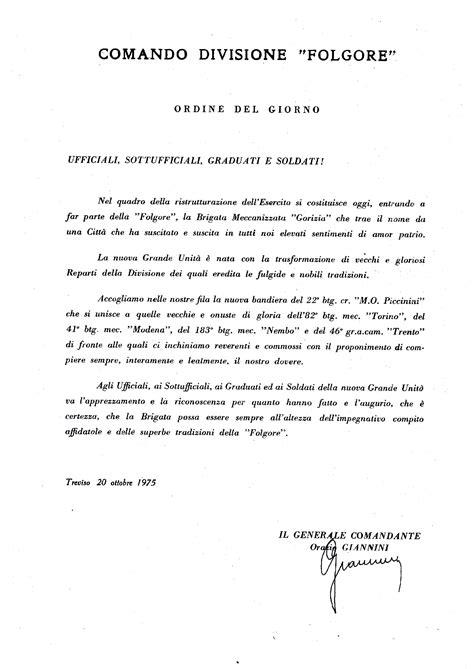 ordine giorno gruppo battaglione logistico gorizia storia brig mecc