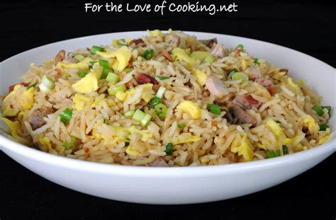 for the love of cooking pork fried rice