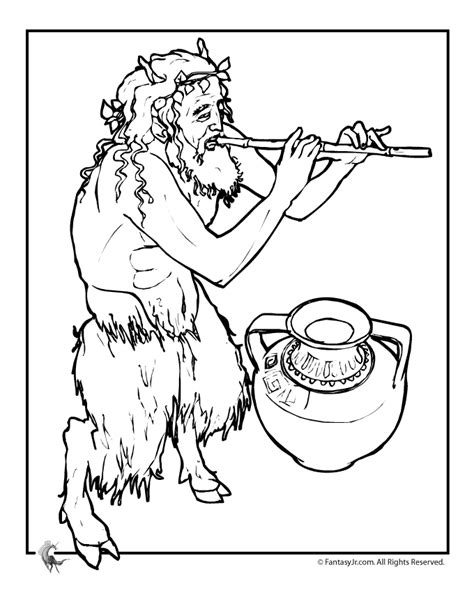 free coloring pages of educational greek mythology