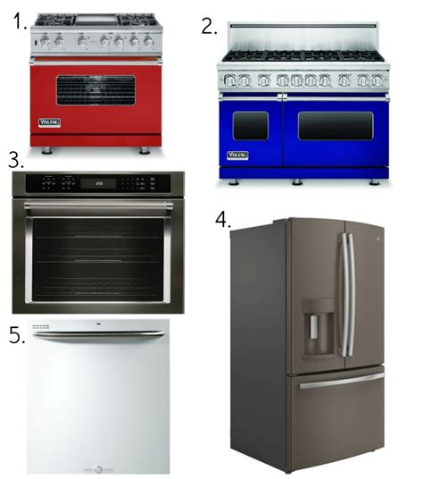 new appliance colors for our kitchens yes