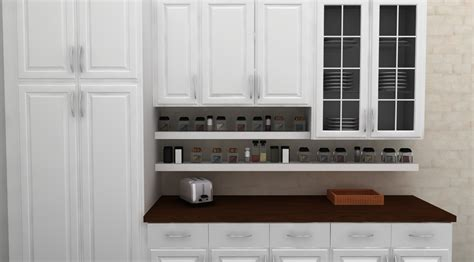 under cabinet shelving kitchen simple open spice storage