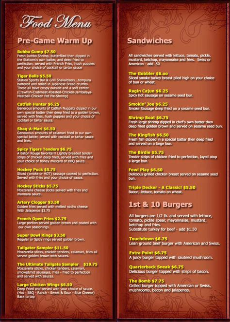 sports bar menu template 17 bar grill menu design images bar and grill menu ideas
