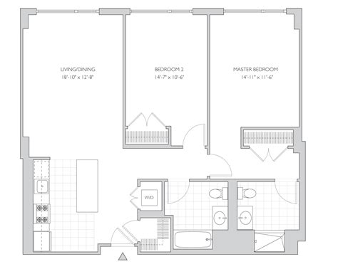 rutgers livingston apartments floor plan 2 bed 2 bath house plans apartement 28 bungalow style