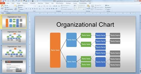 free organizational chart free org chart powerpoint template for organizational