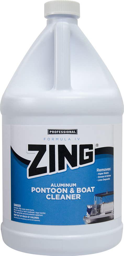 aluminium boat cleaning products zing 174 formula iv aluminum pontoon boat cleaner n879 nyco
