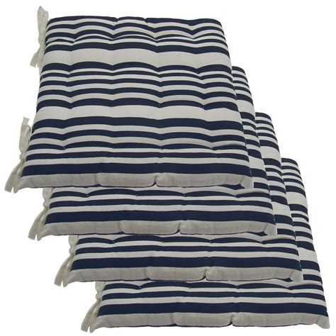 outdoor dining chair cushions set of 4 set of 4 cotton indoor reversible chair pads ties