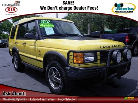 yellow land rover discovery 2002 borrego yellow land rover discovery ii se 69524094