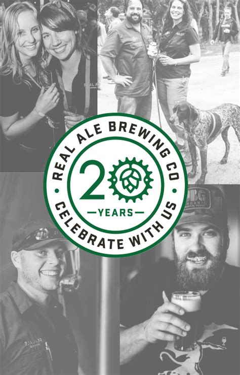 cheers to 20 years tap takeover real ale brewing company