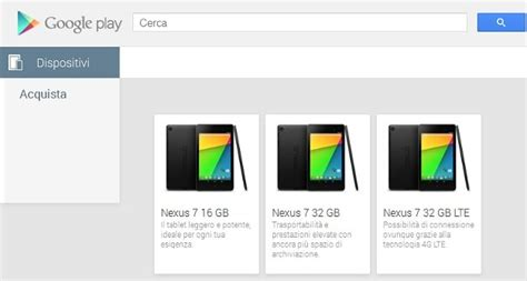 Play Store Devices Play Store Devices Arriva In Italia Androidpit