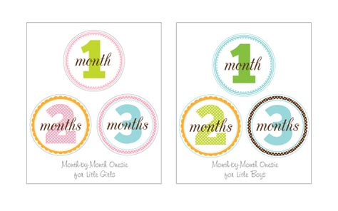 printable iron on monthly onesies petite lemon blog we re an innovative boutique design