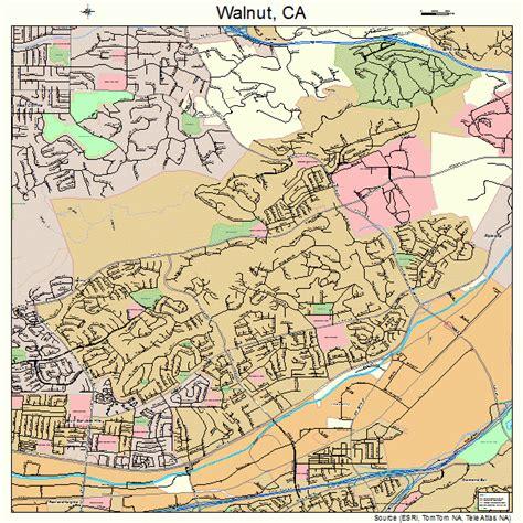 map of walnut california landsat