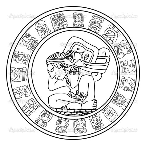 aztec calendar coloring page free diannedonnelly com