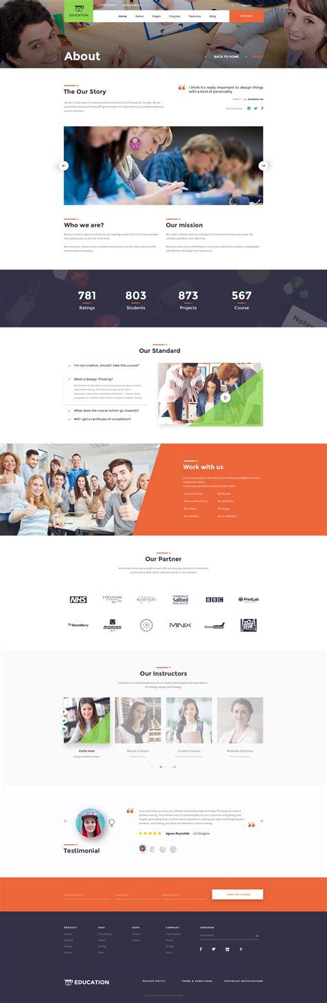 education psd templates education education psd template by therubiktemplate