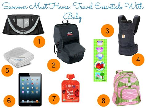 travel essentials summer must haves travel essentials with baby sincerely