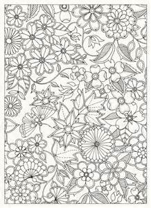 Galerry flowers coloring book beautiful pictures from the garden of nature