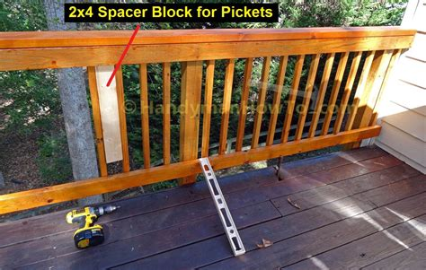 How To Build Deck Handrail how to build code compliant deck railing part 2