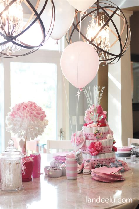 pink and grey baby shower landeelu
