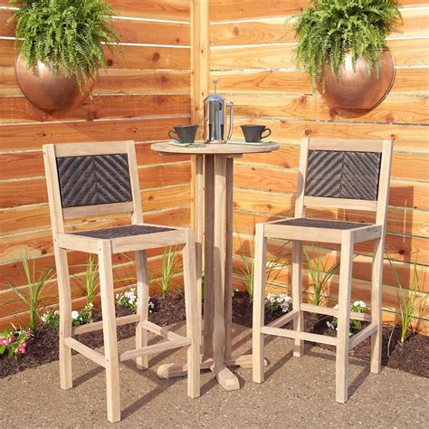 Outdoor Bistro Table Set Bar Height Matalinda Teak Outdoor Bar Table Set Pub Sets Height Engaging Furniture Australia Bistro
