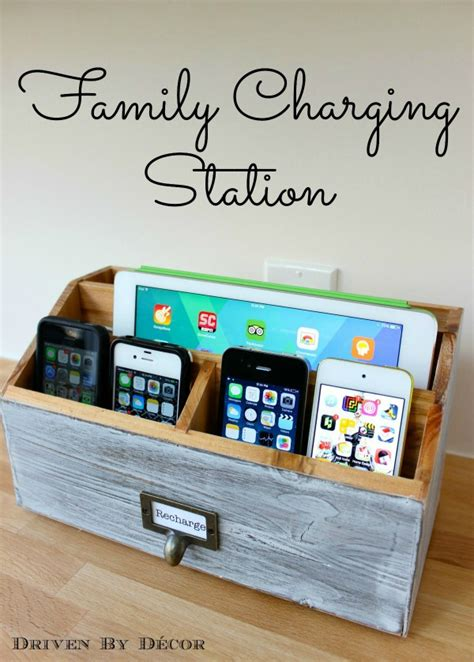 recharge station diy family charging station driven by decor