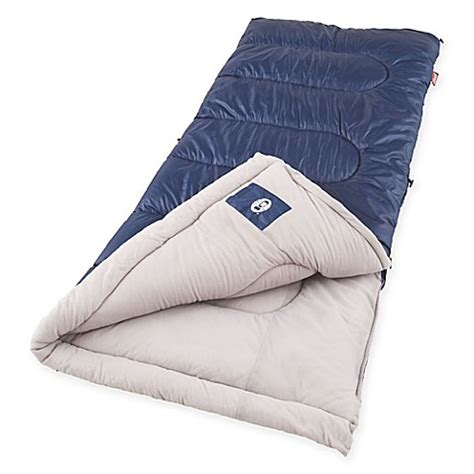 bed bath and beyond sleeping bags coleman 174 brazos sleeping bag in blue bed bath beyond