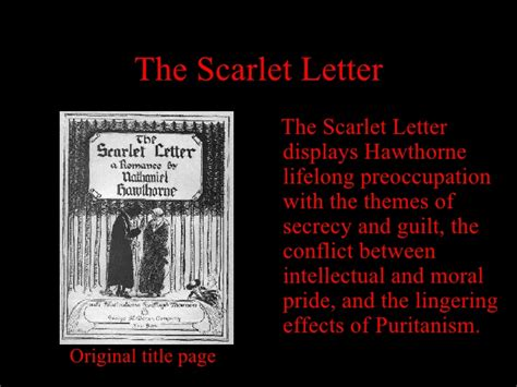 important themes of the scarlet letter the scarlet letter