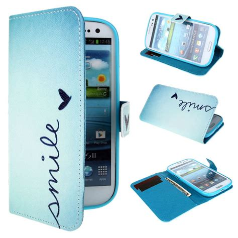 Flip Shell Fdt Samsung Galaxy S3 I9300 Blue new smile butterfly blue wallet leather flip cover cell