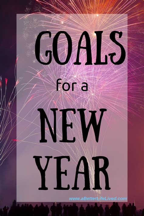 my goals for the new year a better life lived