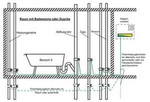 potentialausgleich dusche neue vorschriften im badbereich