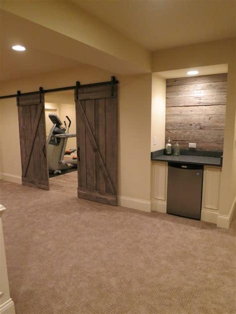 houzz basement rustic basement remodel