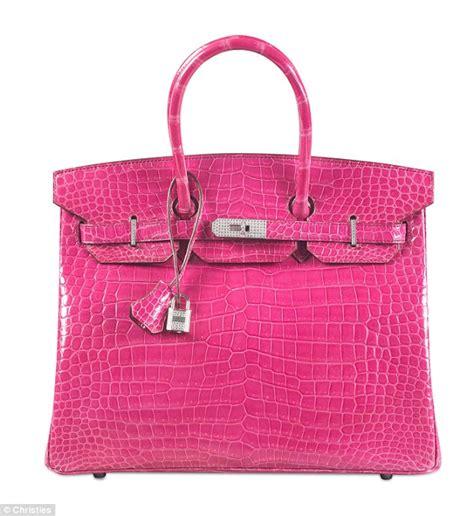 Promo Tas Tangan Handbag Mes Bir Kin Croco 25 Dove Terbaru Fanta pink crocodile skin handbag becomes world s most expensive