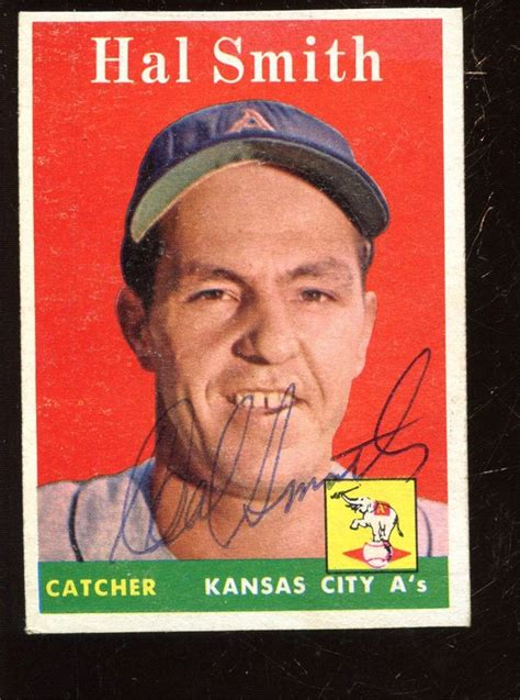 Hal Smith Gift Card - 1958 topps baseball card 257 hal smith ex ebay