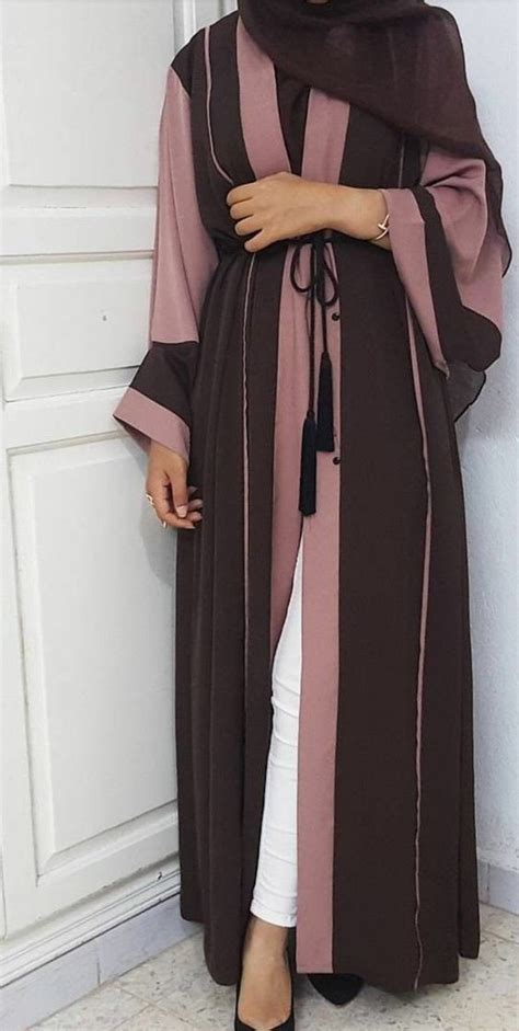 Dress Kaftan Dusty Pink open abaya dusty and chocolate dubai eid jilbab maxi dress kaftan two tones