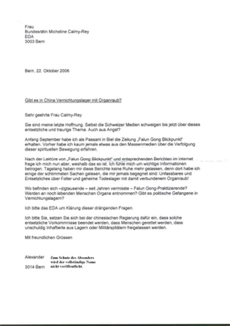 Brief Schweiz China Schweiz Brief An Die Bundesr 228 Tin Micheline Calmy
