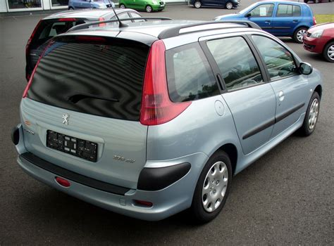 peugeot 206 sw peugeot 206 sw technical details history photos on
