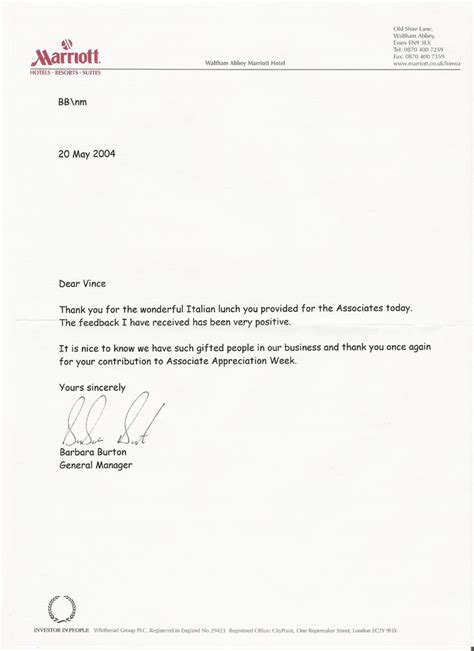 resignation thank you letter experience after appreciation