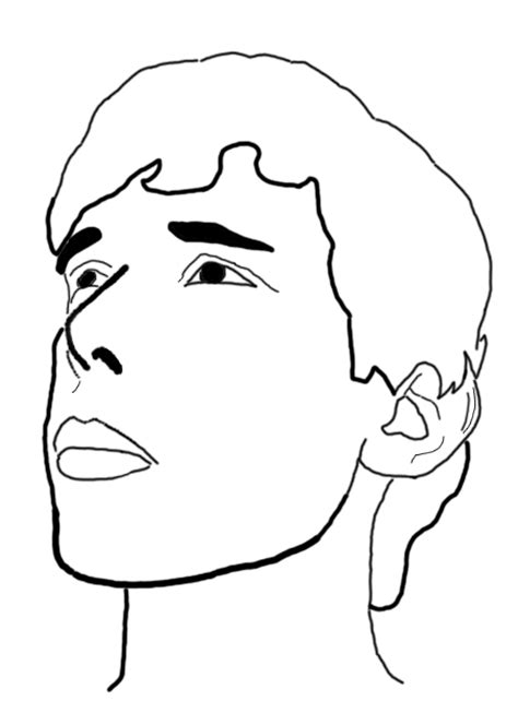 Outline Of A Portrait self portrait outline by wreckingmachine1 on deviantart