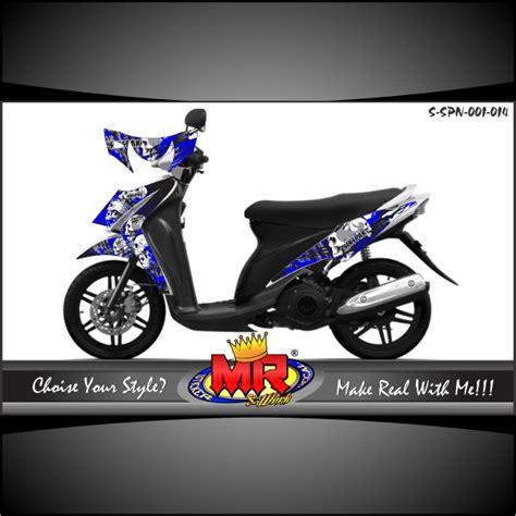 Sticker Striping Variasi Suzuki Spin spin sikspak stiker motor striping motor suka suka decal motor mr stiker