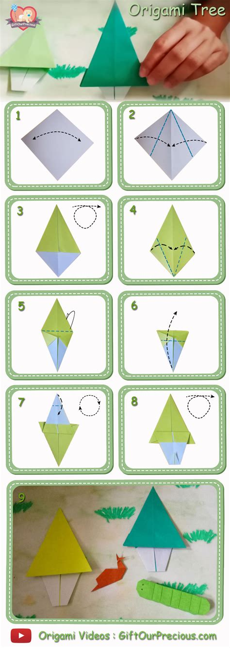 Origami Tree Step By Step - simple origami tree gift our precious