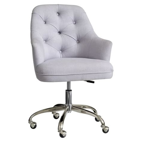 chair for desk twill tufted desk chair pbteen